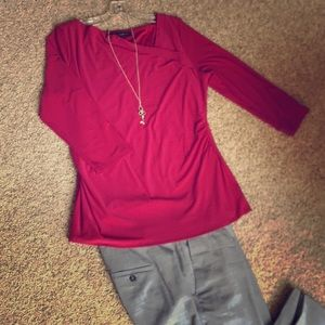 Fuchsia fitted top